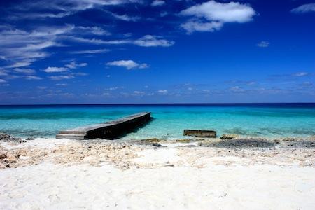 Der tägliche Blick vom Strand aufs Meer